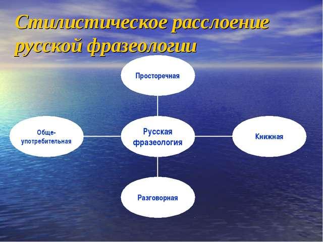 Стилистическое расслоение русской фразеологии