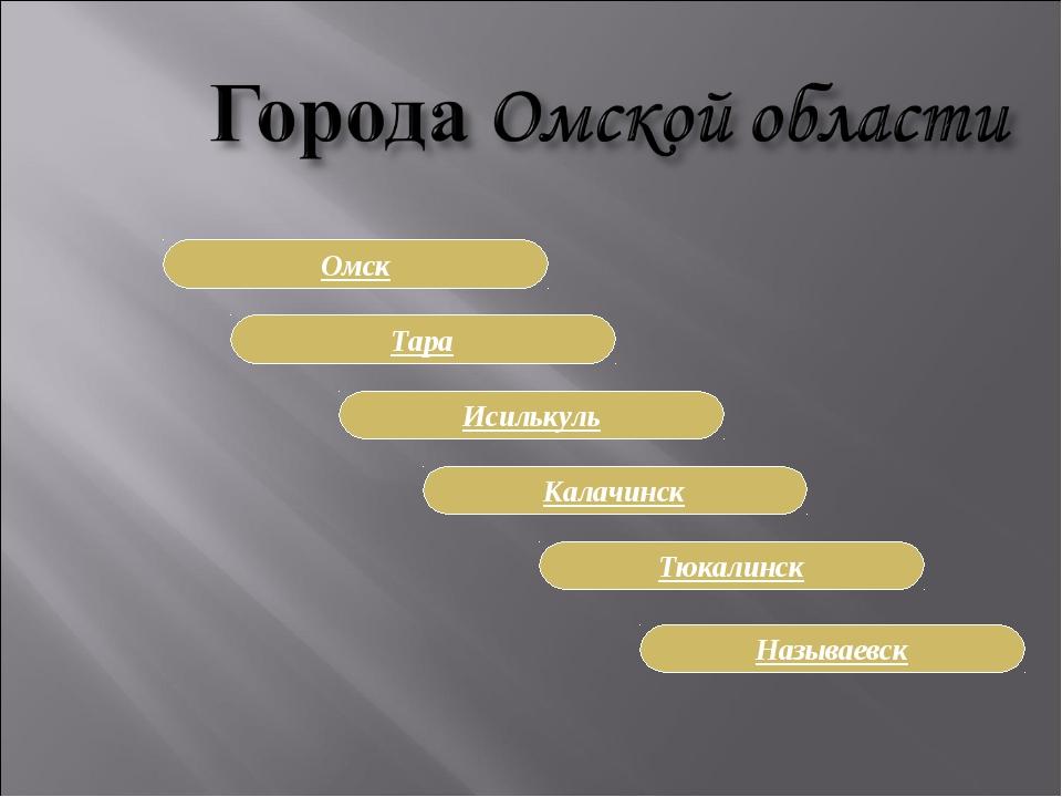 Называевск Калачинск Исилькуль Тара Омск Тюкалинск