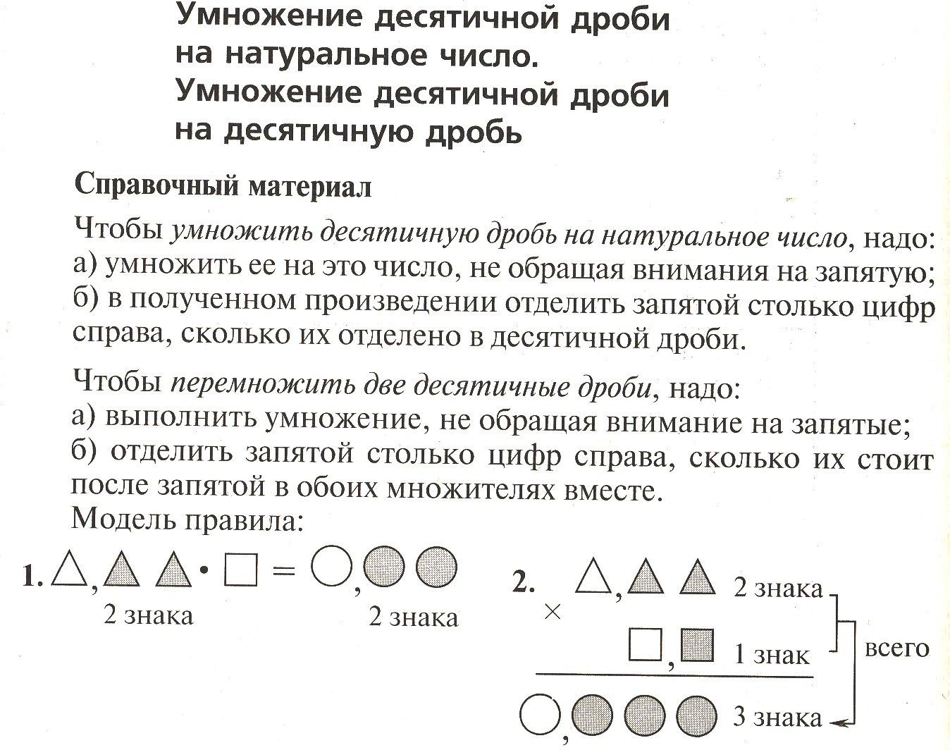 Дидактический материал по математике класс Тема Десятичные дроби  hello html 2744656a jpg