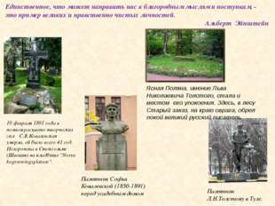 10 февраля 1891 года в полном расцвете творческих сил С.В.Ковалевская умерла,