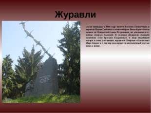 Журавли Песня написана в 1968 году поэтом Расулом Гамзатовым в переводе Наума