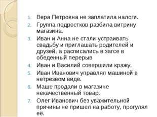 Вера Петровна не заплатила налоги. Группа подростков разбила витрину магазина