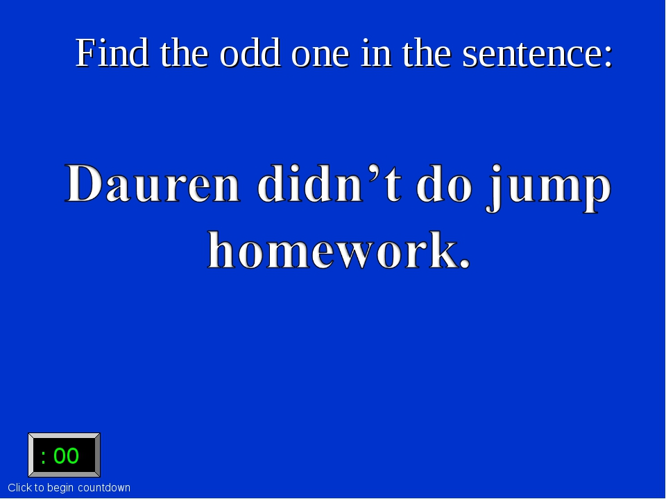 Find the odd one in the sentence: :15 :15 :14 :13 :12 :11 :10 :09 :08 :07 :06...