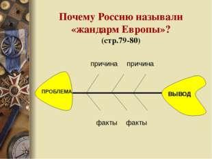 Почему Россию называли «жандарм Европы»? (стр.79-80) причина причина факты фа