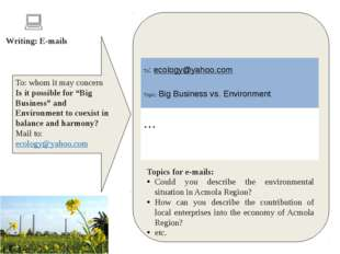 "To: whom it may concern Is it possible for ""Big Business"" and Environment to"
