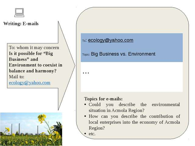 "To: whom it may concern Is it possible for ""Big Business"" and Environment to..."