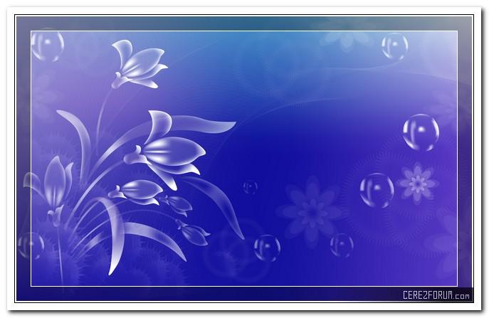 Разрешение 1920x1200, на голубом фоне, Цветочки, пузырики, уже 26240-я картинка в базе zwalls.ru