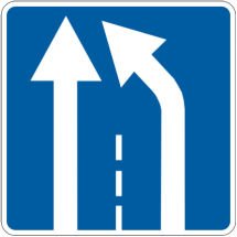 Информационно- указктельные знаки - 5.20.2 Начало дополнительной полосы движения, дорожные знаки, цена 288,82 грн., заказать в К