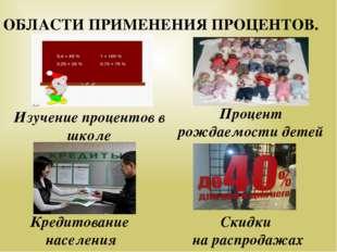 Кредитование населения Изучение процентов в школе Скидки на распродажах Проц