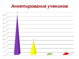 Анкетирование учеников