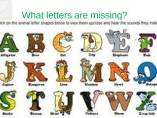 What letters are missing?