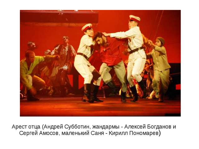 Арест отца (Андрей Субботин, жандармы - Алексей Богданов и Сергей Амосов, мал...