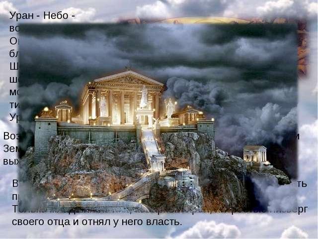 Уран - Небо - воцарился в мире. Он взял себе в жены благодатную Землю. Шесть...