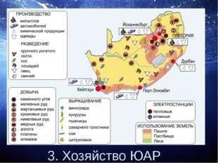 3. Хозяйство ЮАР