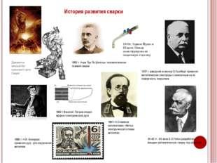 История развития сварки Древнесла- вянский бог кузнечного дела Сварог 1802 г