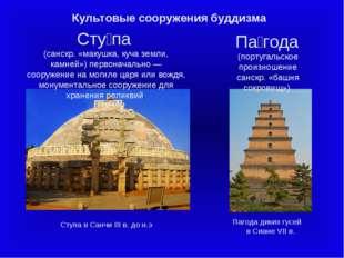 Культовые сооружения буддизма Па́года (португальское произношение санскр. «ба