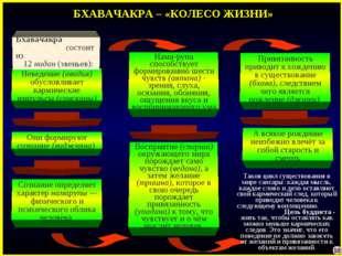 БХАВАЧАКРА – «КОЛЕСО ЖИЗНИ» Неведение (авидья) обусловливает кармические импу