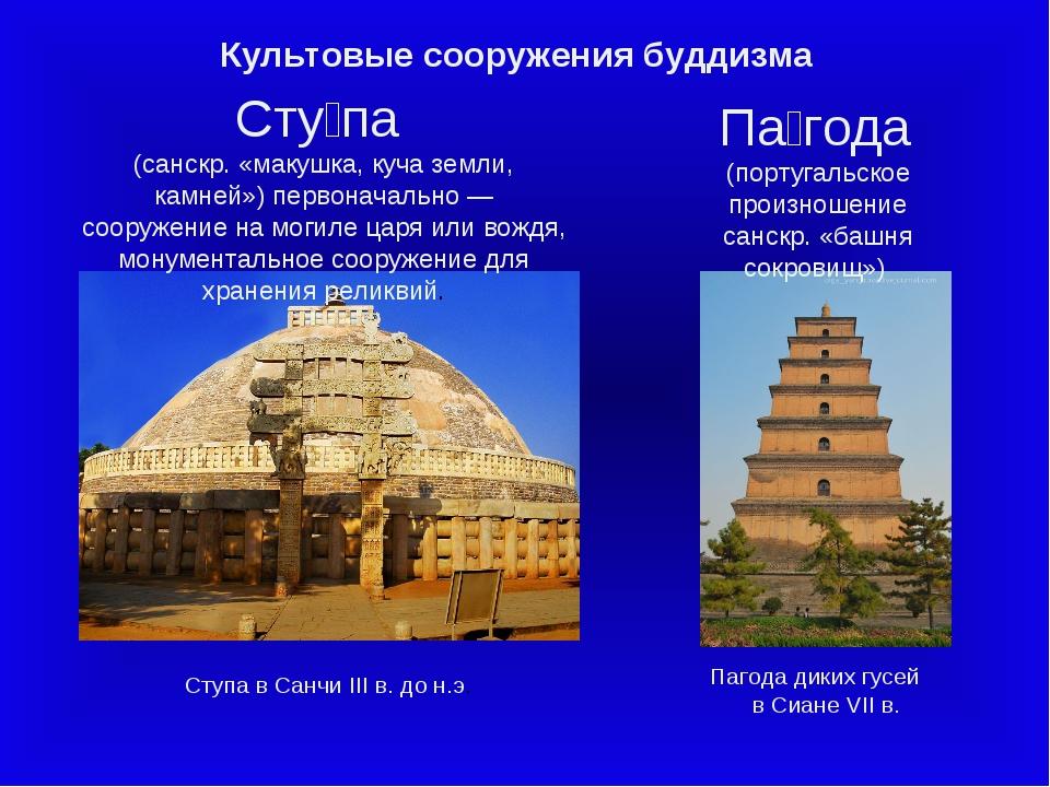 Культовые сооружения буддизма Па́года (португальское произношение санскр. «ба...