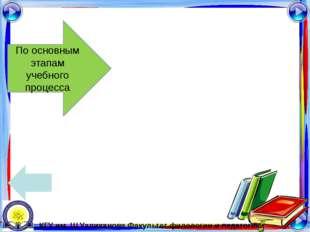 3. Урок применения знаний и умений Структура урока: 1. проверка домашнего за