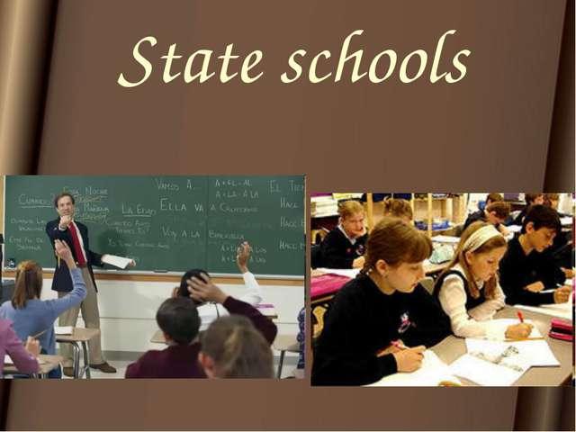 State schools