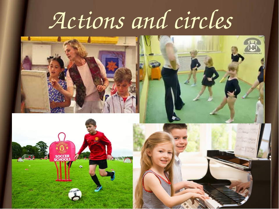 Actions and circles
