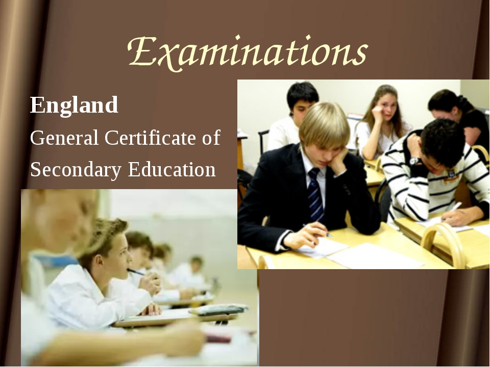Examinations England General Certificate of Secondary Education