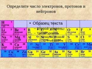 Определите число электронов, протонов и нейтронов