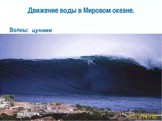 Движение воды в Мировом океане. Волны: цунами Page *
