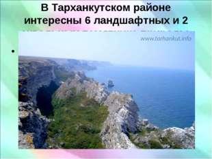 В Тарханкутском районе интересны 6 ландшафтных и 2 аквальных памятника природ