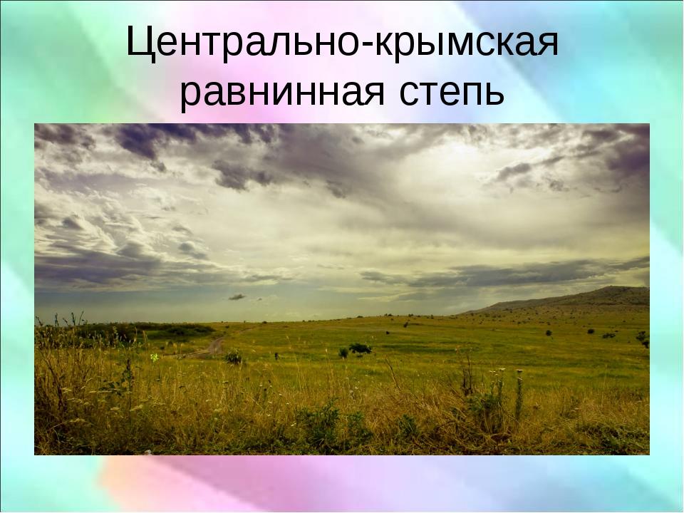 Центрально-крымская равнинная степь