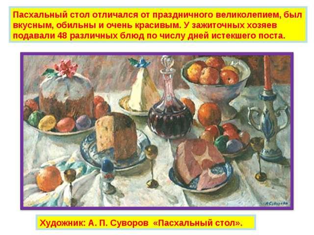 Пасхальный стол отличался от праздничного великолепием, был вкусным, обильны...