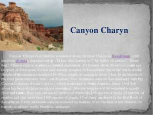 Canyon  Charyn (kaz.Sharyn) is situated along the river Charyn in Kazakhstan