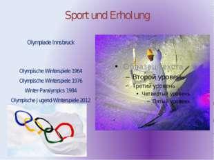 Sport und Erholung Olympiade Innsbruck Olympische Winterspiele 1964 Olympisch