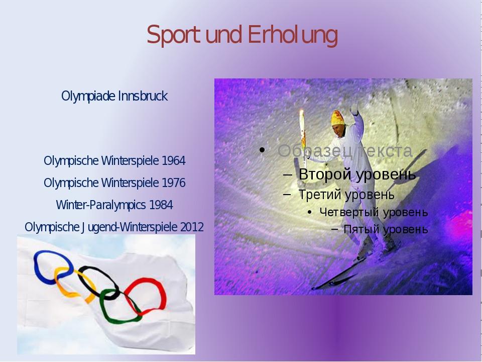 Sport und Erholung Olympiade Innsbruck Olympische Winterspiele 1964 Olympisch...