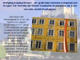 Wolfgang Amadeus Mozart - der große österreichische Komponist und Dirigent, D