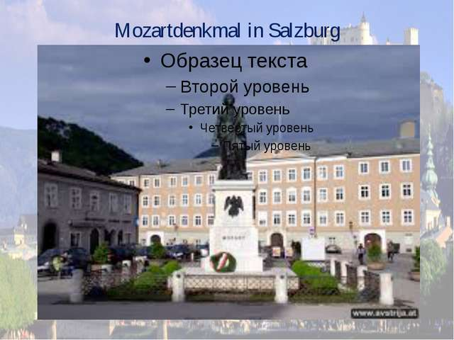 Mozartdenkmal in Salzburg