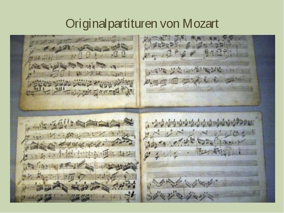 Originalpartituren von Mozart