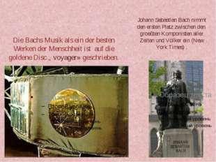 Die Bachs Musik als ein der besten Werken der Menschheit ist auf die goldene