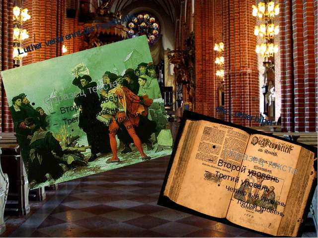Luther verbrennt die Papstbulle dieLutherbibel