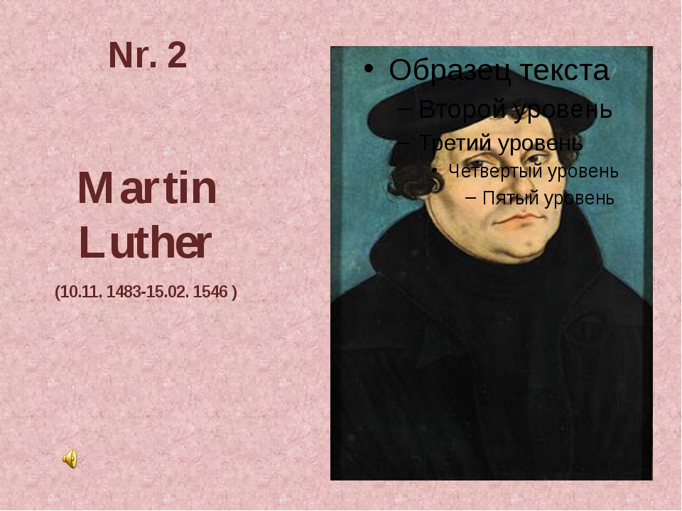 Nr. 2 Martin Luther (10.11. 1483-15.02. 1546 )