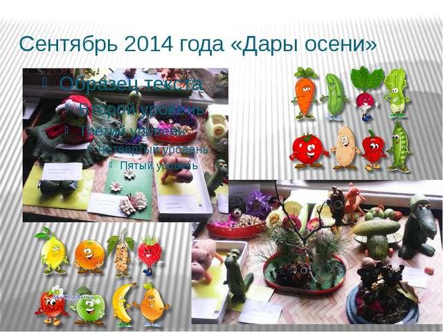 Сентябрь 2014 года «Дары осени»