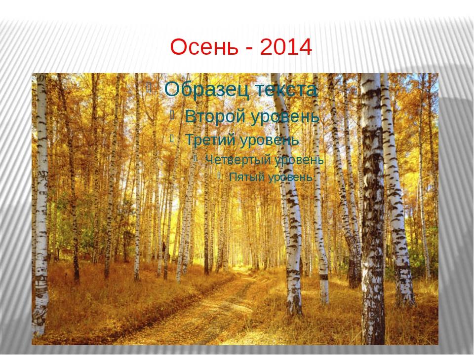 Осень - 2014