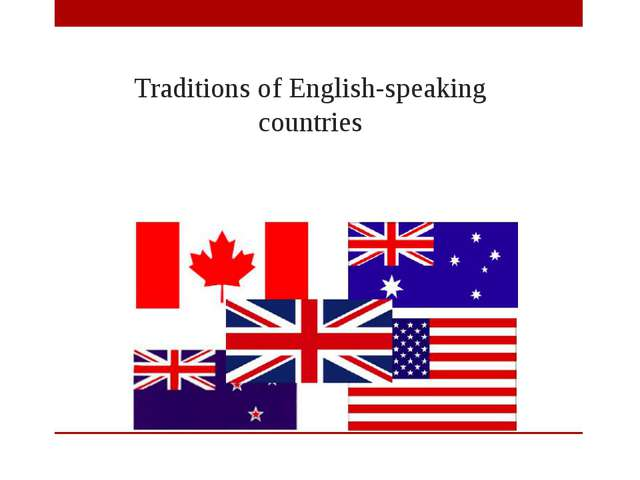 Traditions of English-speaking countries