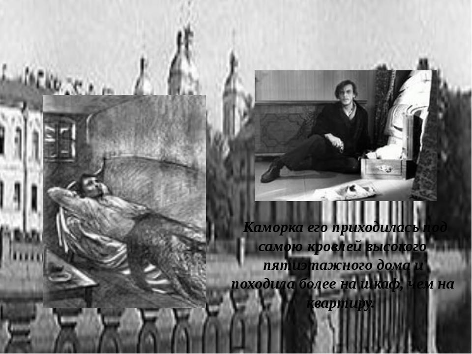 Каморка его приходилась под самою кровлей высокого пятиэтажного дома и поход...