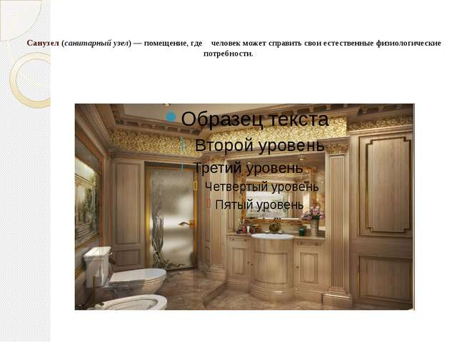 Санузел (санитарный узел) — помещение, где человек может справить свои естес...