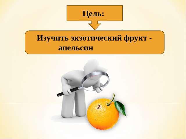 Цель: Изучить экзотический фрукт - апельсин
