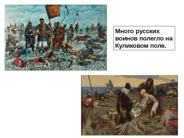 Много русских воинов полегло на Куликовом поле.