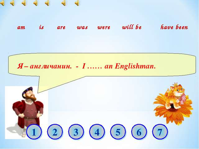 Я – англичанин. - I …… an Englishman. am is are was were will be have been 1...
