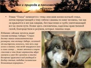 """Роман """"Плаха"""" начинается с темы описания жизни волчьей семьи, потом перераста"""