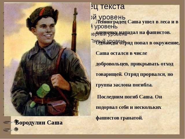 Ленинградец Саша ушел в леса и в одиночку нападал на фашистов. Однажды отряд...